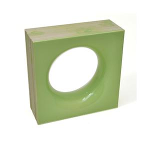 Elemento Vazado Cerâmica Esmaltado Muschio Sphera 20x20x7,5cm Elemento V
