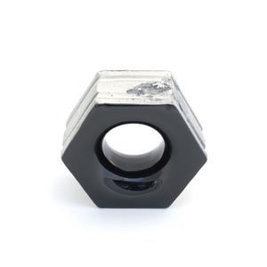 Elemento Vazado Cerâmica Esmaltado Nero Favo 13x16x7cm Elemento V
