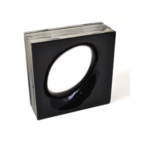Elemento Vazado Cerâmica Esmaltado Nero Lunna 20x20x7,5cm Elemento V