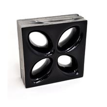 Elemento Vazado Cerâmica Esmaltado Nero Mini Foglio 20x20x7,5cm Elemento V