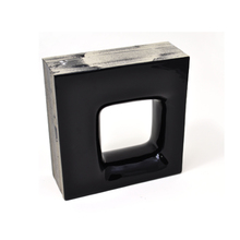 Elemento Vazado Cerâmica Esmaltado Nero Quadratto 20x20x7,5cm Elemento V