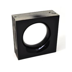 Elemento Vazado Cerâmica Esmaltado Nero Sphera 20x20x7,5cm Elemento V