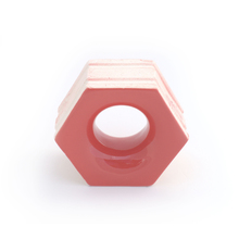Elemento Vazado Cerâmica Esmaltado Rosso Favo 13x16x7cm Elemento V