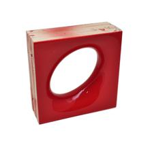 Elemento Vazado Cerâmica Esmaltado Rosso Lunna 20x20x7,5cm Elemento V