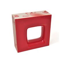 Elemento Vazado Cerâmica Esmaltado Rosso Quadratto 20x20x7,5cm Elemento V