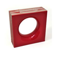 Elemento Vazado Cerâmica Esmaltado Rosso Sphera 20x20x7,5cm Elemento V