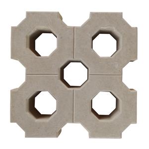 Elemento Vazado Cobograma Concreto Natural 40x40x8cm Lajes São Francisco