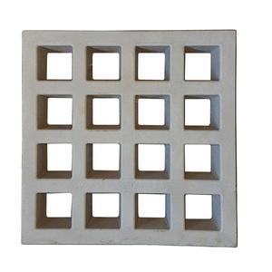 Elemento Vazado Composé Concreto Natural 39x39x7cm Lajes São Francisco