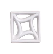 Elemento Vazado Louça Esmaltado Estrela do Mar Branco 19x19x8cm Cerâmica Martins