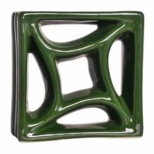Elemento Vazado Louça Estrela do Mar Verde Hortelã 19x19x8cm Cerâmica Martins