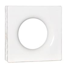 Elemento Vazado Lua Esmaltado Branco 25x25x8cm Cerâmica Martins