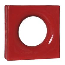 Elemento Vazado Lua Esmaltado Vermelho 25x25x8cm Cerâmica Martins