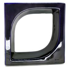 Elemento Vazado Pétala Esmaltado Azul Cobalto 20x20x8cm Cerâmica Martins