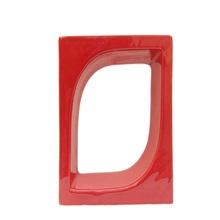 Elemento Vazado Pétala Esmaltado Vermelho 20x20x8cm Cerâmica Martins