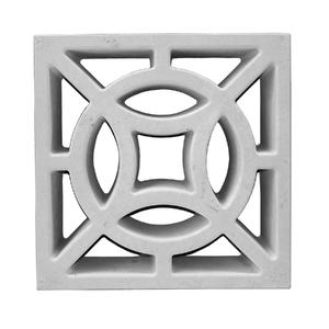 Elemento Vazado Renda Concreto Natural 39x39x7cm Lajes São Francisco