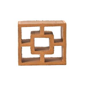 Elemento Vazado Reto Quadrado Cerâmica Marajó