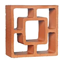 Elemento Vazado Rústico Reto Quadrado 18x18x7cm Cerâmica Martins
