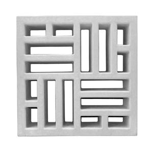 Elemento Vazado Taco Chinês Concreto Natural 39x39x7cm Lajes São Francisco