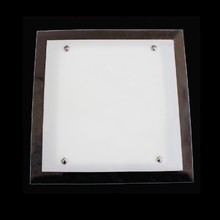 Embutido Quadrado 30cm Borda Transparente para 2 E27