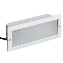 Embutido Retangular Alumínio 10,4x23,2cm Branco Germany