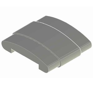 Emenda Corrimão Chato Alumínio Acetinado 1 cmx5 cm Unefix
