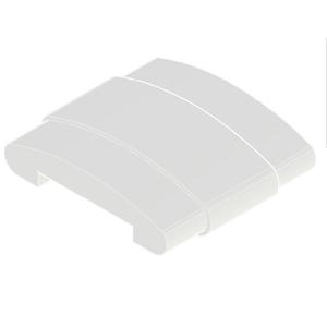Emenda Corrimão Chato Alumínio Branco 1 cmx5 cm Unefix