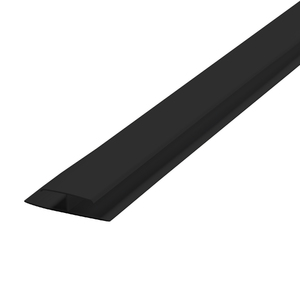 Emenda Rígido de PVC Preto 6m Araforros
