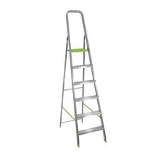 Escada 6 Degraus Alumínio 1,4m 120kg Prata Standers