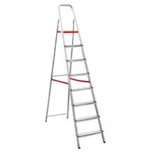Escada 8 Degraus Alumínio 1,72m 120kg Prata Botafogo