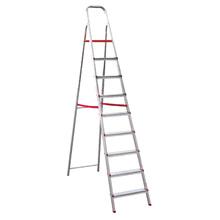 Escada 9 Degraus Alumínio 1,94m 120kg Prata Botafogo