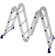 Escada Articulável 8X1 Aluminio 12 Degraus Altura Minima 80,00 M Altura Maxima 3,39 M Carga Trabalho 10,60 Kg Mor