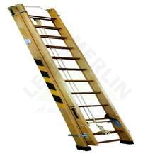 Escada Extensível em Madeira Altura Fechada 4,20m e Aberta 7,20m com 14X24 Degraus em Madeira Wbertolo