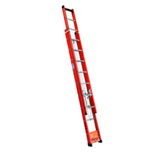Escada Extensível Vazada Fibra de Vidro 10 Degraus Fechada e 15 Aberta 3,00x4,80m W Bertolo
