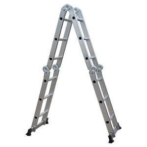 Escada Multiuso 12 Degraus sem Plataforma 7 em 1 Alt.326cm Conthey