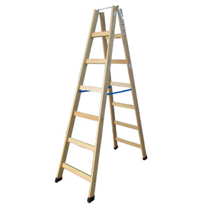 Escada Pintor 7 Degraus 2m Madeira W Bertolo