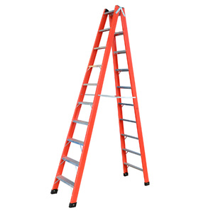 Escada Tesoura Duplo Acesso 10 Degraus 3m Fibra de Vidro W Bertolo