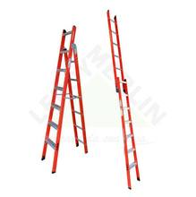 Escada Tesoura Singela em Fibra de Vidro 1,80X3,20m 6X10 Degraus em Alumínio Wbertolo