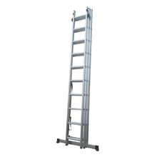 Escada Tripla Extensiva 30 Degraus 3x10 Alumínio Evolux