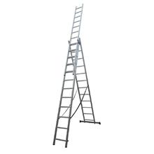 Escada Tripla Extensiva 36 Degraus 3x12 Alumínio Evolux