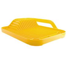 Escorredor de Louça Sobre Pia 12 Pratos Acrílico Amarelo Discovery Martiplast