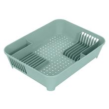 Escorredor de Louças Plástico 12 Pratos Verde Comfort Zone