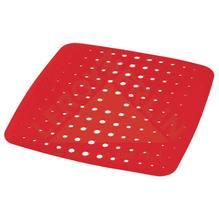 Escorredor de Prato Plástico Vermelho 4 Pratos Glub Martiplast