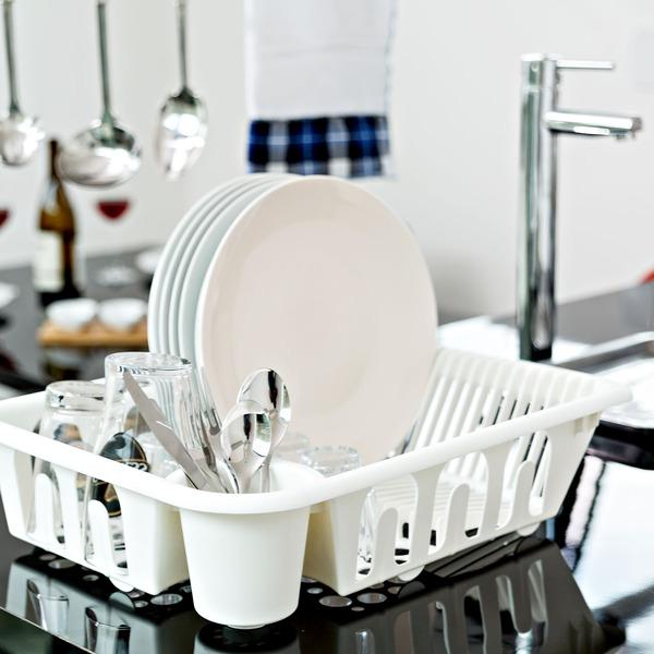Escorredor de prato sobre pia 18 pratos pl stico branco for Leroy merlin prato