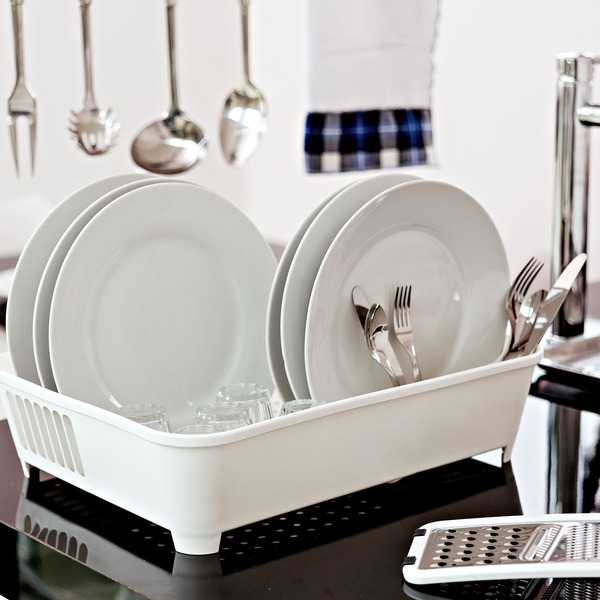 Escorredor de prato sobre pia 12 pratos pl stico branco for Prato finto leroy merlin