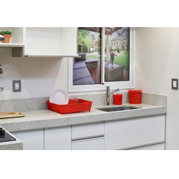 Escorredor de prato sobre pia 12 pratos pl stico vermelho for Prato a rotoli leroy merlin