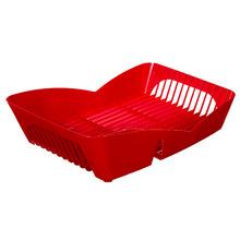 Escorredor de Prato Sobre Pia 12 Pratos Plástico Vermelho Infinity Martiplast