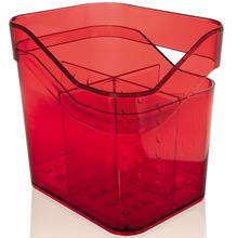 Escorredor de Talher Sobre Pia Plástico Vermelho Discovery Martiplast