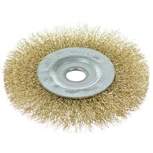 Escova Circular Cerdas Onduladas Aco Carbono Diametro 101,60 mm Espessura 12,70 mm Diametro Furo 6,35 mm Rotacao Maxima 4500 Rpm