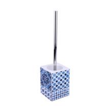 Escova Sanitária Cerâmica Quadrada Azul Mosaic Sensea
