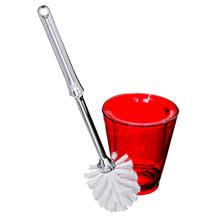 Escova Sanitária com Suporte Acrílico Cônico Premium - Vitra Banhar Vermelha